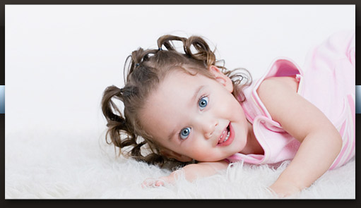 smiling child laying down