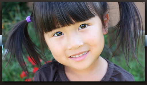 smiling asian child