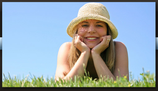 smiling woman with hat